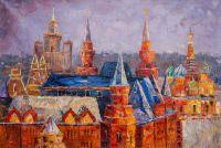 Вид на Собор Василия Блаженного. Пряничное сердце Москвы. N2