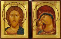 Венчальная пара - Спас и Богоматерь