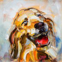 "Картина маслом ""Собака: Я счастлив!"""