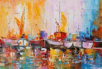 Лодки N4. Серия Морская разноцветная