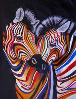 Разноцветные зебры N11