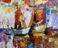 Лодки N2. Серия Морская разноцветная