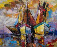 Лодки N1. Серия Морская разноцветная