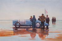 Копия картины Джека Веттриано. Pendine Beach (Пляж Пендайн)
