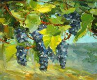 """Картина маслом """"Виноградная лоза. Красное N2"""""""