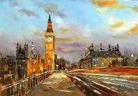 """Городской пейзаж """"Лондон. Биг-Бен и Вестминстерский мост. Вечер"""""""