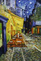 Терасса ночного кафе Плейс ду Форум в Арле, Копия картины Ван Гога