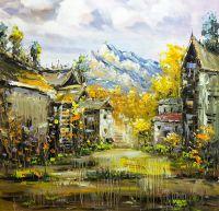 """Городской пейзаж """"Спрятанный в Альпах"""" N5"""