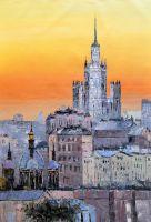 """Пейзаж маслом """"Москва. Времена и эпохи. Версия CV"""""""