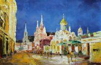 Прогулки по ночной Москве. Вид с Никольской улицы на Красную площадь N2