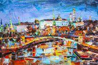 Вид на Кремль через Большой Каменный мост