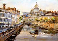 Санкт-Петербург. Каналы. Вид на Исаакиевский собор N1