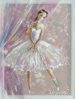 Маленькая Балерина картина на шелке