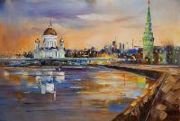Москва. Вид на Храм Христа Спасителя от Кремля N2