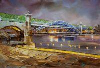 Огни Москвы. Андреевский мост N2
