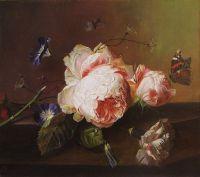 Yan van Huysum - Натюрморт с цветами