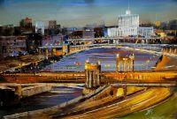 Вид на Дом Правительства через Бородинский мост