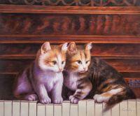 Шли котята по роялю