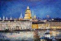 Санкт-Петербург. Вид на Исаакиевский собор через Неву