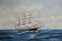 Вольная копия картины Берри Мейсона, Клипер на волнах