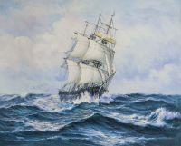 Парусник в бурном море