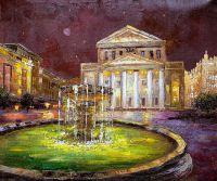 Прогулки по ночной Москве. Вид на Большой театр