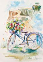 Принт Flowers travel