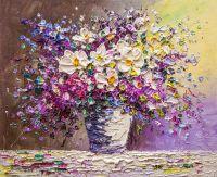 Бело-фиолетовый букет