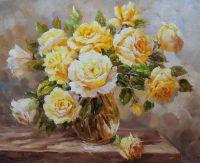 Букет желтых роз на счастье