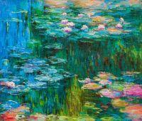 Копия картины Клода Моне. Водяные лилии, N10