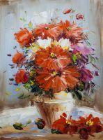 Букет. Красные цветы