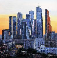 Вечерний вид на Москва-Сити
