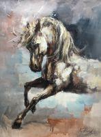 Конь. В галоп