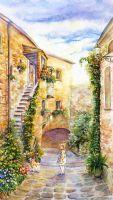 Дворик в Тоскане