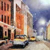 Улица под снегом
