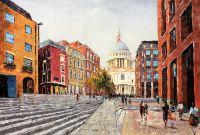 Лондон. Сити. Вид на Собор Святого Павла