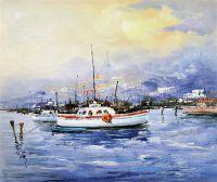 Лодки на фоне города. Белое и красное N2
