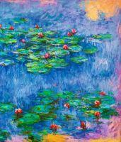 Водяные лилии, N15, копия картины Клода Моне