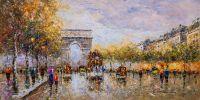 Пейзаж Парижа Антуана Бланшара. Champs Elysees, Arc de Triomphe