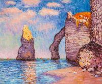 Копия картины Клода Моне. Скала Игла и Порт д'Аваль, 1885 г.