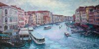 """LA MIA VENEZIA, Венеция, вид с моста """"Rialto"""", Городской пейзаж"""