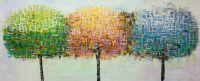 Абстракция маслом Деревья. Трио, код RGB Light
