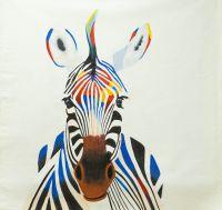 Зебра, разноцветная как радуга