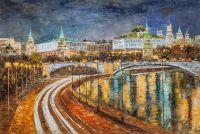 Вид на Кремль через Большой Каменный мост. Версия AV