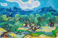 Копия картины Ван Гога Оливковые деревья