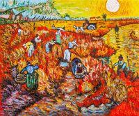 Копия картины Ван Гога. Красные виноградники в Арле