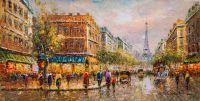La Tour Eiffel (Вид на Эйфелеву башню, копия)