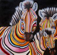 Разноцветные зебры N13
