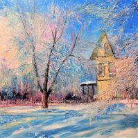 Дача зимой