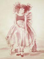 Картина вином Алиса